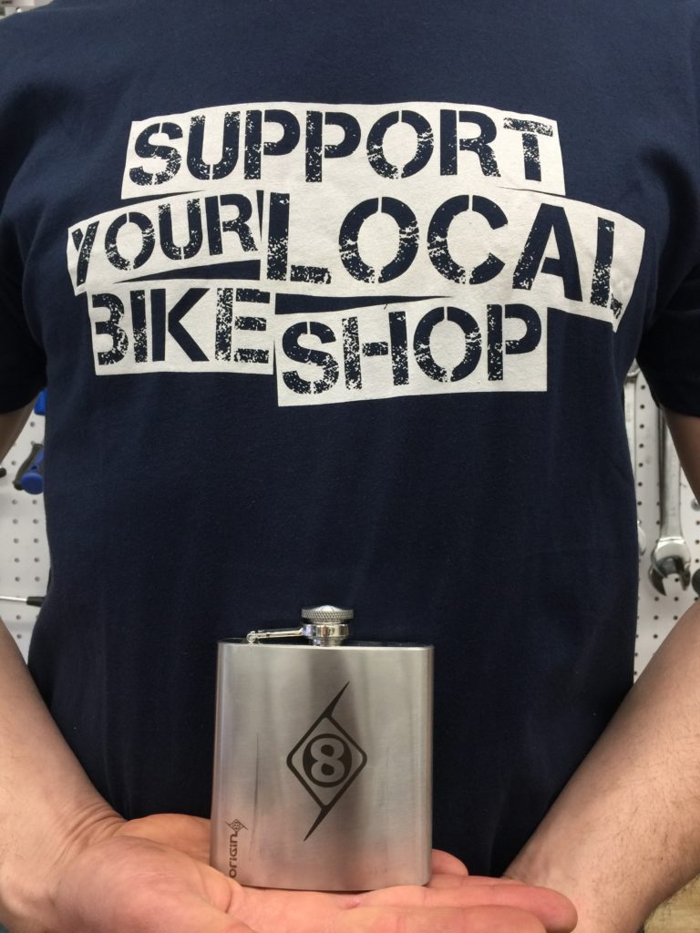 T shirt and flask