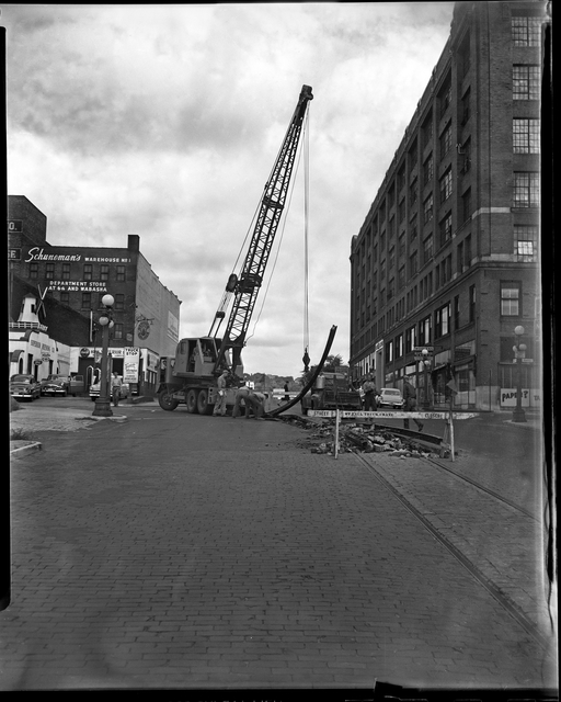 Trolley Track Removal 1954