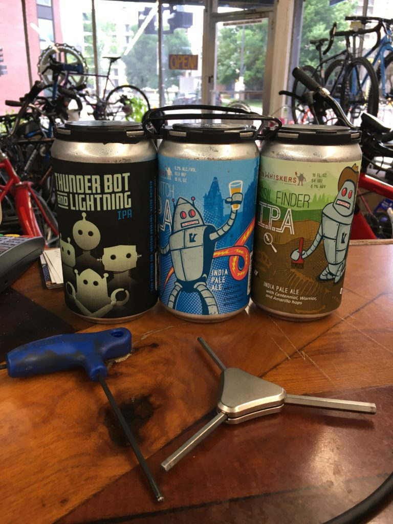 The reward for the work (3 crowlers from Tin Whiskers)